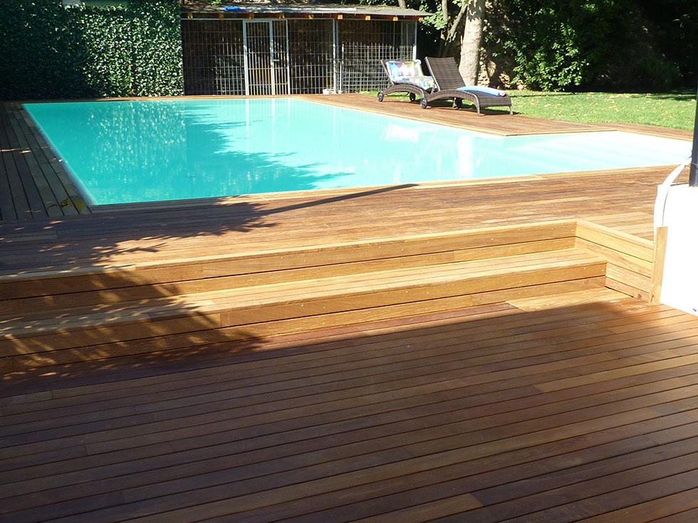 Legno linea legno parquet for Piscina esterna legno
