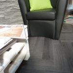 Nuovo pavimento in Pvc a spina pesce il ritorno di un pavimento che ha fatto la storia posato a secco con materassino fonoassorbente incorporato. Realizzato da Linealegno Borgosatollo Brescia.